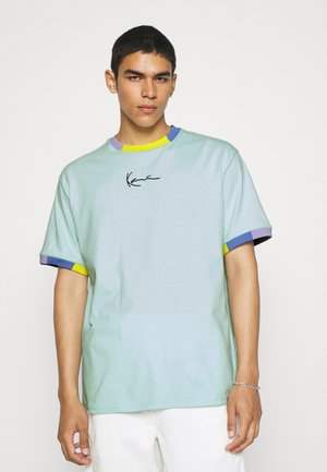 UNISEX SMALL SIGNATURE TEE - Print T-shirt - mint