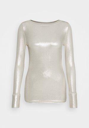 TEREK - Long sleeved top - oro/avorio