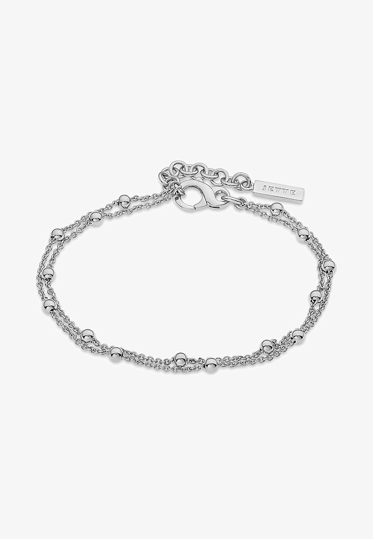 JETTE - JETTE SILVER DAMEN-ARMBAND LUCKY CHARM 925ER SILBER - Bracelet - silver-coloured