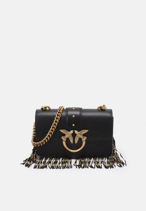 EXCLUSIVE LOVE MINI ICON FRINGES - Across body bag - black