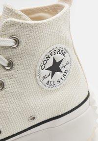Converse - RUN STAR HIKE UNISEX - High-top trainers - egret/white - 5