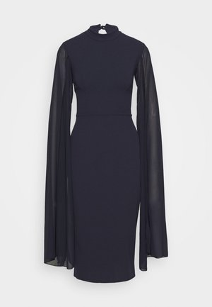 CAPE SLEEVE DRESS - Vestito elegante - navy blue