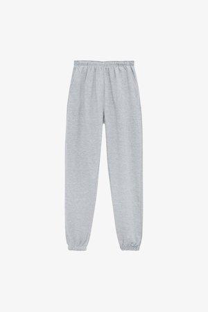 BASIC-JOGGER - Tracksuit bottoms - mottled grey