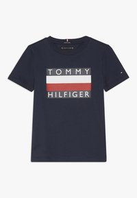 Tommy Hilfiger - ESSENTIAL TEE - Printtipaita - blue - 0