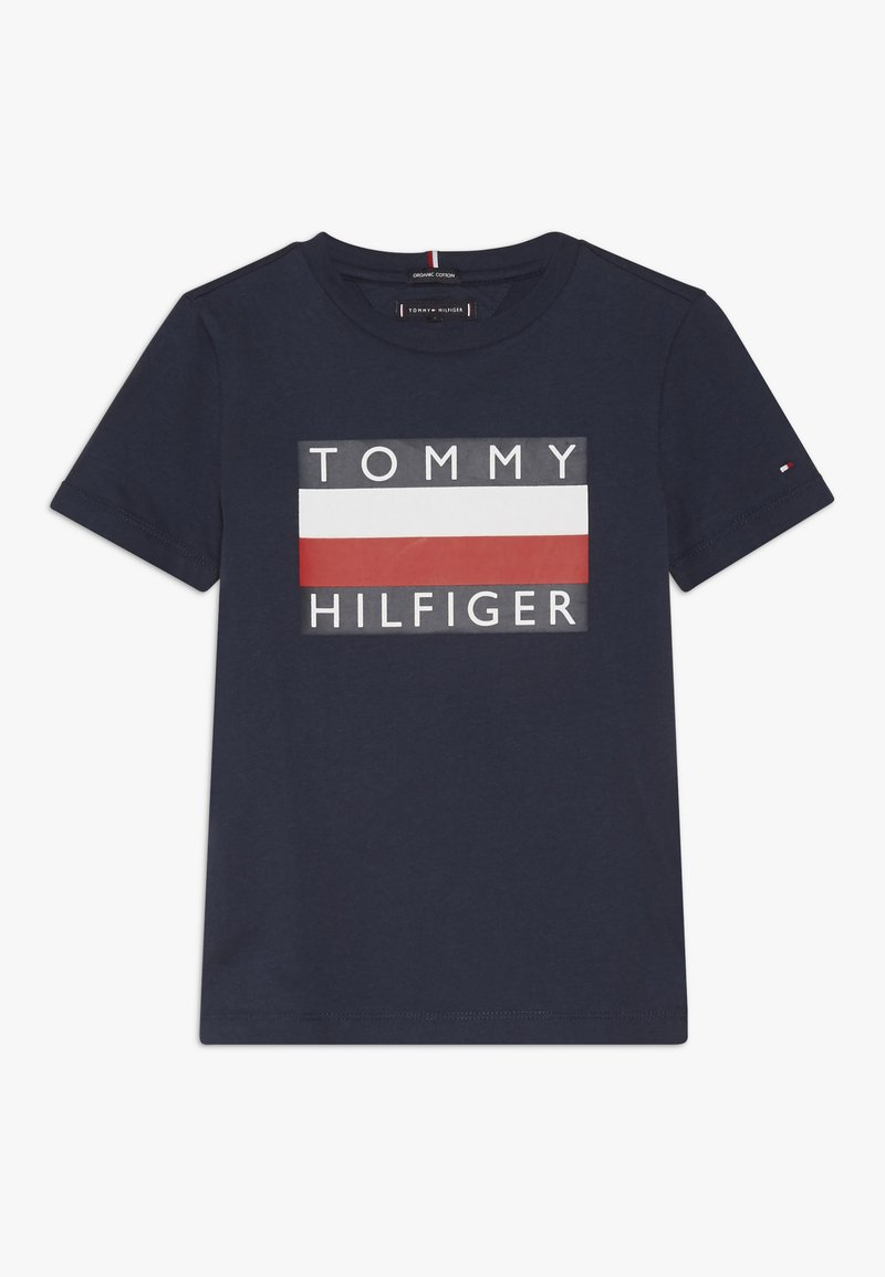 Tommy Hilfiger - ESSENTIAL TEE - Printtipaita - blue