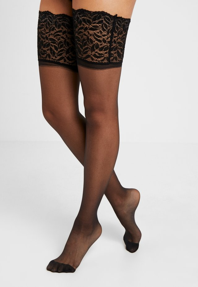 15 DEN GARTERS UP SEXY - Over-the-knee socks - black
