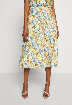MIDI SKIRT PRINTED - A-line skirt - white