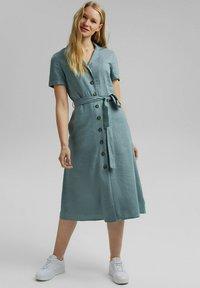 Esprit - Shirt dress - turquoise - 0