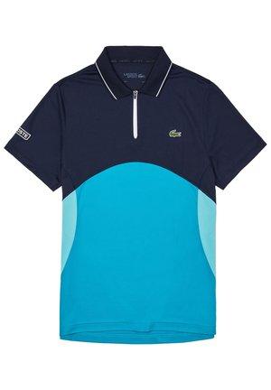 Polo shirt - bleu marine/turquoise/turquoise/blanc