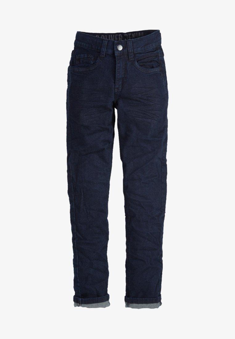 s.Oliver - SEATTLE - Straight leg jeans - dark blue denim stretch