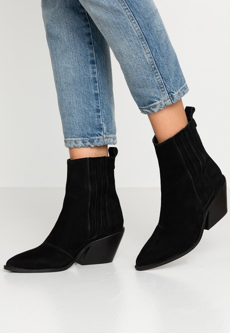 KIOMI Wide Fit - Cowboy/biker ankle boot - black