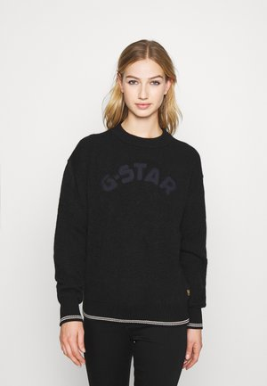 COLLEGE GR ROUND LOOSE LLONG SLEEVE - Trui - dk black