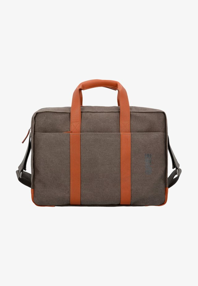 PUNCH - Laptop bag - grey cognac