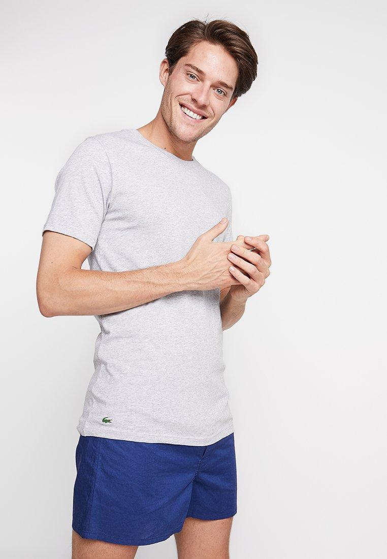 Lacoste - SLIM FIT TEE 3 PACK - Undershirt - black/mottled grey/white