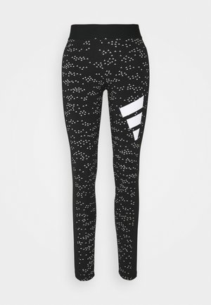 ADIDAS SPORTSWEAR ALLOVER PRINT LEGGINGS - Collant - black