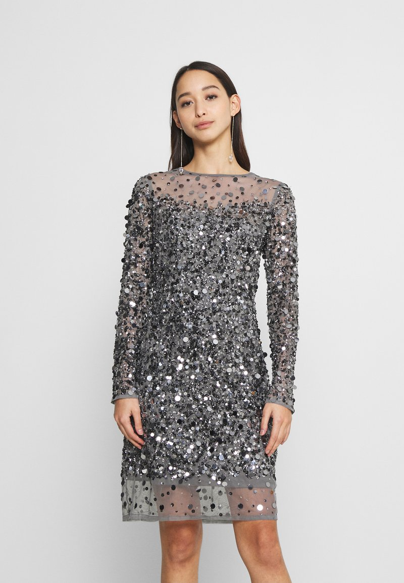 Lace & Beads - LENA MINI - Cocktail dress / Party dress - grau