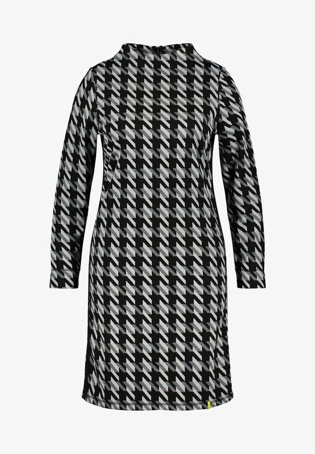 Gebreide jurk - black gemustert