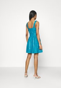 WAL G. - PLEATED SKATER DRESS - Day dress - teal blue - 2
