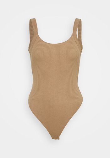 SCOOP BACK - Top - taupe