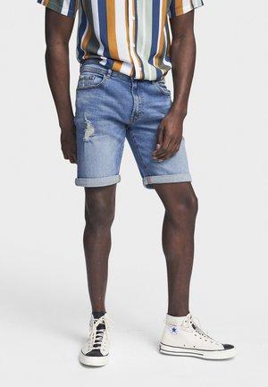 PORTO - Denim shorts - shady indigo