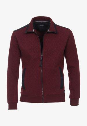 Zip-up sweatshirt - dunkelrot