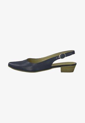 Escarpins à plateforme - navy leather