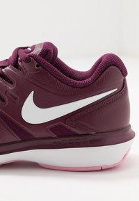 Nike Performance - AIR ZOOM PRESTIGE - Multicourt tennis shoes - bordeaux/white/pink rise - 5