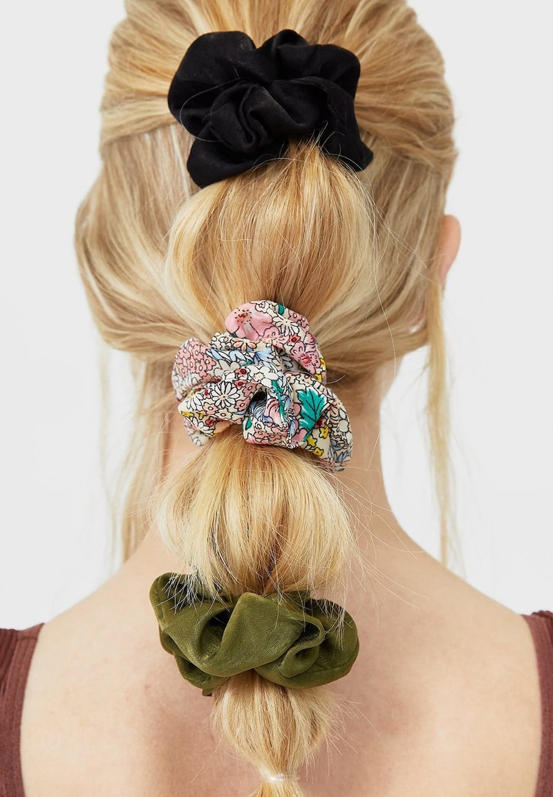 Stradivarius - 3 PACK - Hair styling accessory - dark green