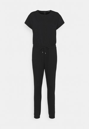 Short sleeves Sweat loung jumpsuit - Jumpsuit - black