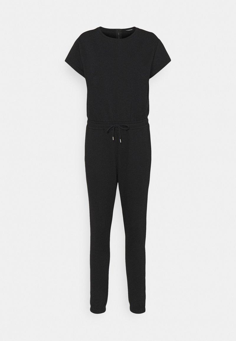 Even&Odd - Short sleeves Sweat loung jumpsuit - Jumpsuit - black