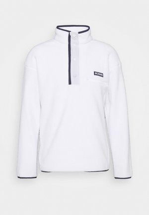HELVETIA™ HALF SNAP - Fleece jumper - white/nimbus grey