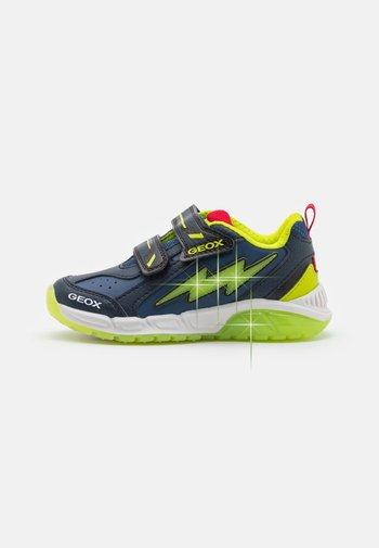 SPAZIALE BOY - Sneaker low - navy/lime