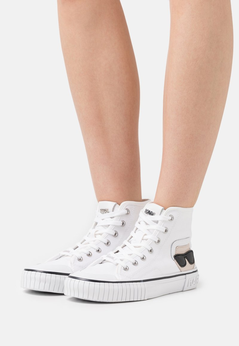 KARL LAGERFELD - KAMPUS IKONIC LACE - Sneaker high - white
