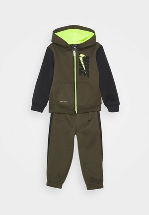 COLORBLOCK THERMA PANT SET - Tracksuit - cargo khaki