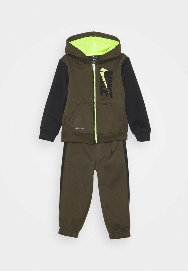 COLORBLOCK THERMA SET - Training jacket - cargo khaki