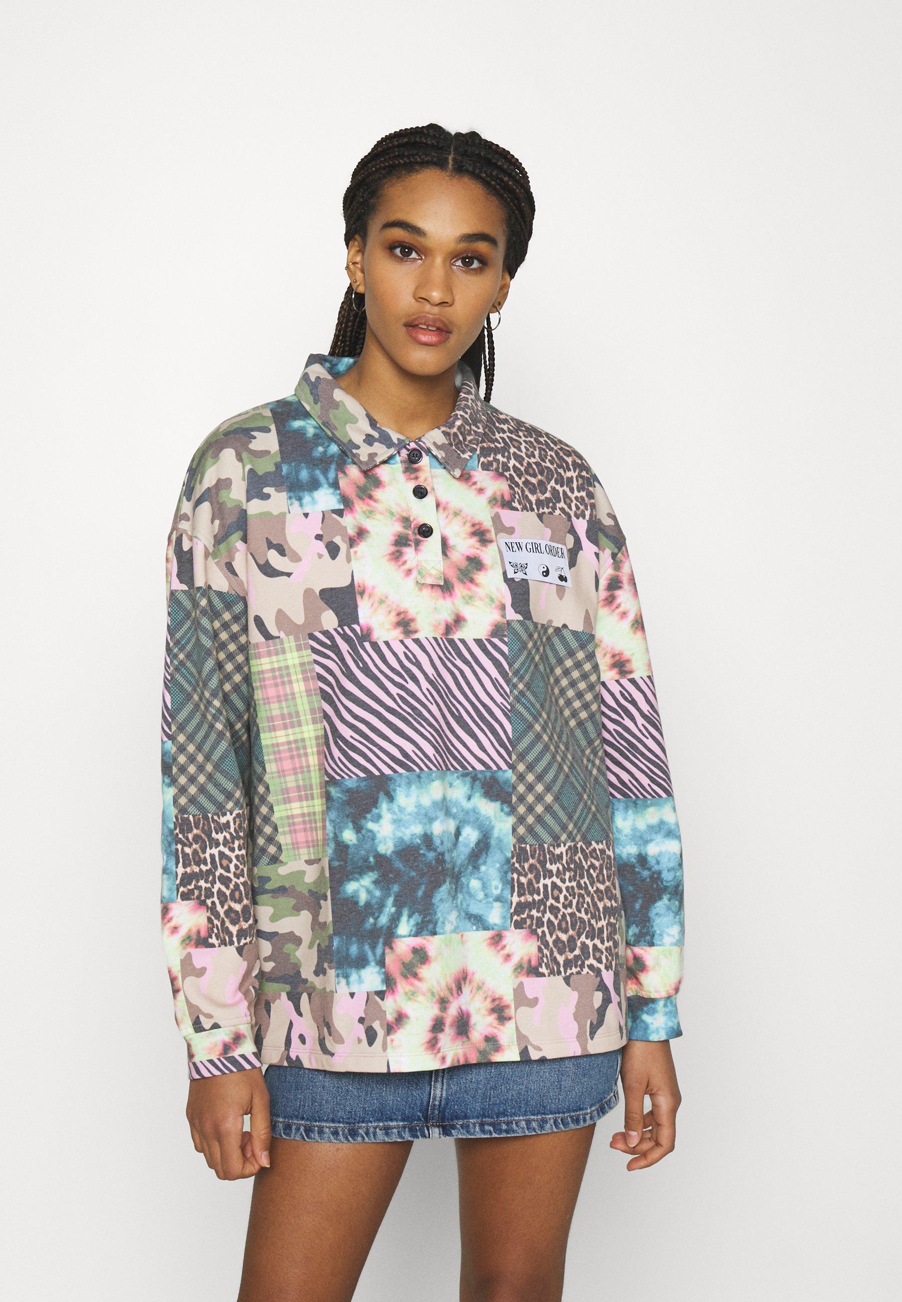 Women ANIMAL TIE DYE MIXED PRINT - Sweatshirt