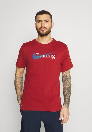 TEE TRAINING - T-shirt print - dark cayenne