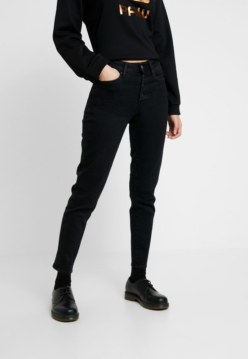 G-Star - NAVIK HIGH SLIM ANKLE POP - Slim fit jeans - jet black