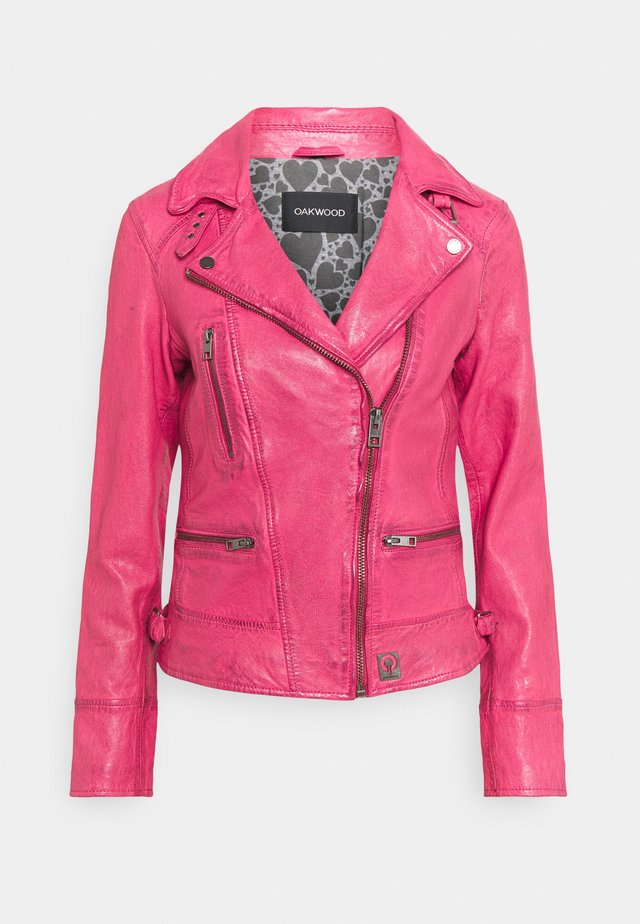 Lederjacke - pink