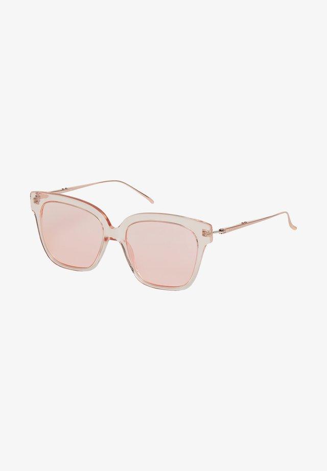 SONNENBRILLE - Occhiali da sole - rosegold/rose transparent