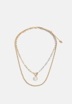 MIXED CHAIN TWO ROW NECKLACE - Necklace - gold-coloured