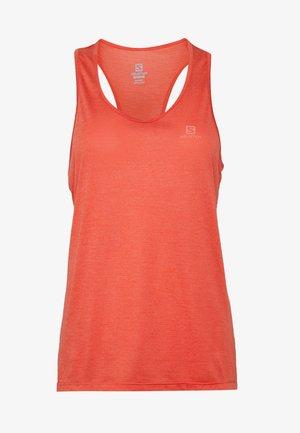 AGILE TANK - Sports shirt - cayenne/heather