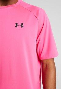 Under Armour - TECH TEE - Print T-shirt - pink surge/black - 5