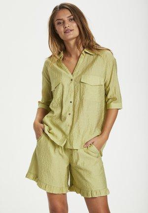 Button-down blouse - tarragon