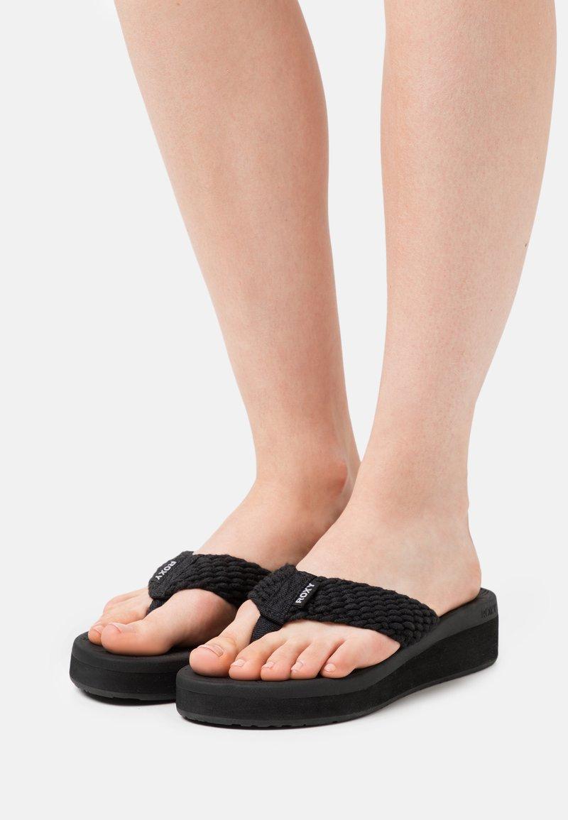 Roxy - CAILLAY - T-bar sandals - black