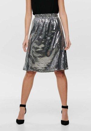 A-line skirt - mottled black