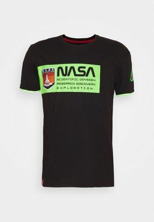 MARS - Print T-shirt - black/neon green