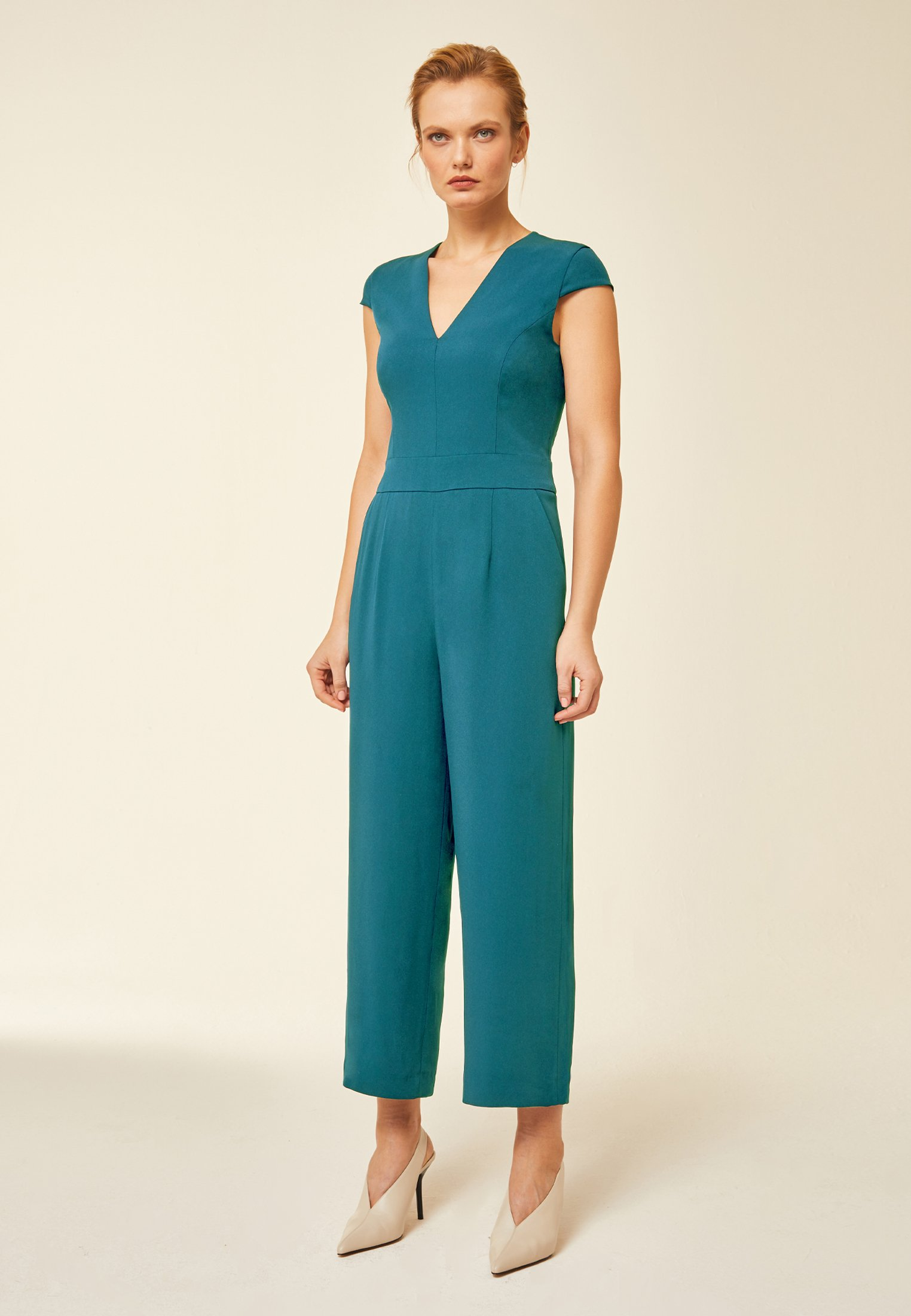 2020 New Women's Clothing IVY & OAK MIT WEITEM BEIN Jumpsuit capri FsQcaZePC