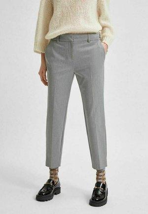 Chinos - light grey melange