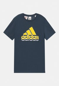 adidas Performance - UNISEX - Triko s potiskem - dark blue/yellow - 0